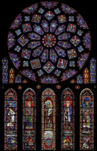 Mary & Anne Chartres Window - full